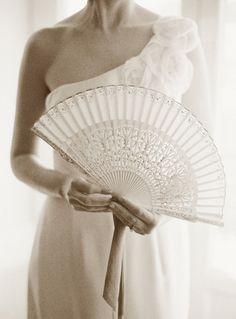 beautiful white fan