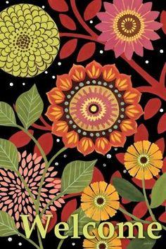 """""""Autumn Bloom Vert"""" By Jennifer Brinley."""