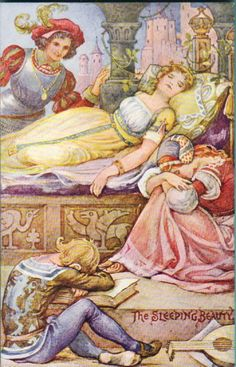 The Sleeping Beauty by May Bowley, published by Valentine's of London.