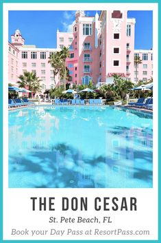 Book your Day Pass to The Don CeSar! Spend the day at the legendary Pink Palace®, St. Pete Beach's iconic Don CeSar Hotel. Lounge in one of the two outdoor, heated pools with poolside concierge service or dip your toes into the white sandy private beach. Bring the kids to enjoy the many activities offered on a daily basis at the resort. Enjoy a luxurious pool, spa, and beach day at the incredible Pink Palace! #Florida #Destinations #Travel #Luxury Florida Hotels, Tampa Florida, Florida Travel, Hotels And Resorts, Best Hotels, Pink Hotel, Pink Palace, Hotel Lounge, Florida Living