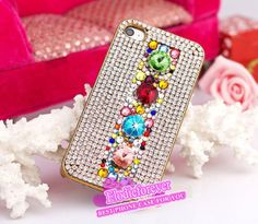 Bling chain iPhone 4 case Rhinestone i phone 4 by Elodieforever, $22.99