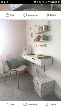 Office Desk, Corner Desk, Bedrooms, Furniture, Home Decor, Quartos, Homemade Home Decor, Desk, Corner Table