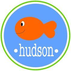 Personalized Boys' Swimming Fish