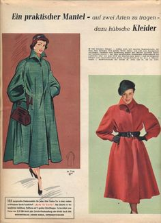 Decoupage Vintage, Retro Pattern, Vintage Sewing Patterns, Retro Fashion, Vintage Fashion, Mode Mantel, Outdoor Fashion, Fashion Project, Future Fashion