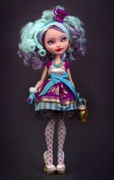Madeline Hatter doll repaint by Szklanooka on deviantART