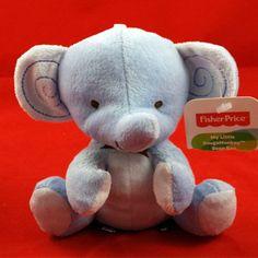 Fisher Price Elephant Blue Plush My Little SnugaMonkey Bean Bag Lovey Baby Toy  #FisherPrice