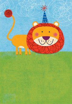 Lion Boy Birthday - Marian Heath Greeting Cards by mrmack, via Flickr