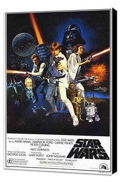 The original Star Wars movie poster.