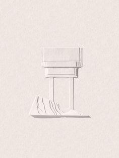 D'habitude quand les artistes font des oeuvres en papier ils se retrouvent avec des choses en volumes multicolores. Ça me fait d'autant plus apprécier ce travail intitulé «Death Landscape III» de Matt Lee qui utilise juste quelques bandes découpées dans du papier blanc pour imaginer des structures et des paysages minimalistes à la limite de …
