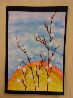 Spring Art, Spring Crafts, Art Activities For Kids, Art For Kids, Grade 1 Art, Easter Arts And Crafts, Ecole Art, Autumn Painting, Kindergarten Art