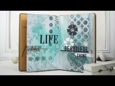 A Video by Shari Carroll using the Stamptember Art Journal Kit by Simon Says Stamp.  2013