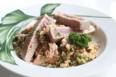 Fregula con tonno Risotto, Pasta, Beef, Ethnic Recipes, Food, Meat, Essen, Meals, Yemek