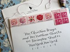 wedding calligraphy envelope