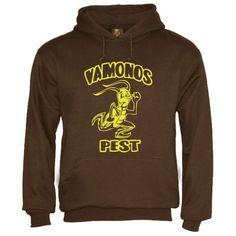 Pest Vamonos Brown Large Hoodie