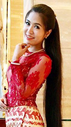 Long Ponytail Hairstyles, Long Ponytails, Indian Hairstyles, Simply Beautiful, Beautiful Places, Long Indian Hair, Myanmar Women, Straight Ponytail, Super Long Hair