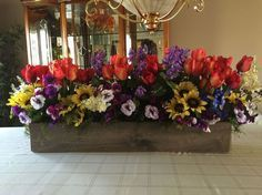 leftover laminate flooring into a spring floral arrangement, container gardening, flooring, gardening, repurposing upcycling