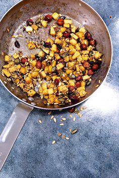 Saveurs Végétales: ► Quinoa sauté au crunchy de butternut & champignons teriyaki