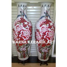 GUCI KANSAI BUNGA MERAH BESAR (RETAK SERIBU), Desain & Kerajinan Tangan, Karya Seni di Carousell Ceramic Jars, Ceramics, Home Decor, Ceramica, Pottery, Decoration Home, Room Decor, Ceramic Art, Clay Crafts