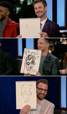 avengers infinity war cast draws their characters,loki is best,i think. Avengers Humor, Marvel Avengers, Iron Man Avengers, Funny Marvel Memes, Marvel Jokes, Dc Memes, Marvel Actors, Marvel Heroes, Marvel Comics