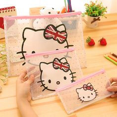 Hello Kitty Document Bag & Pencil Bag //Price: $9.99 & FREE Shipping //     #catoftheday #lovecats