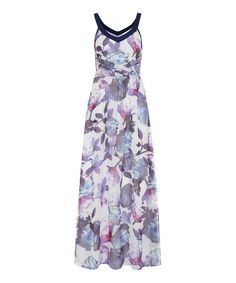 Look what I found on #zulily! Blue Cherry Blossom Maxi Dress #zulilyfinds