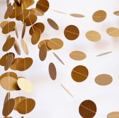 Antique gold garland Shimmer garland 21 color by CoutureByAyca