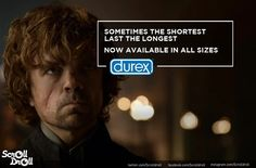 """Facebook page ScrollDroll has designed these posters showing Game of Thrones characters endorsing various brands.   These """"Game Of Thrones"""" Brand Endorsements Are Painfully On Point"""