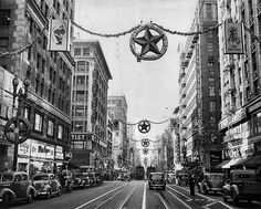 This Los Angeles Times image from Dec. 30, 1941, shows the intersection of Broadway and Fifth Street.