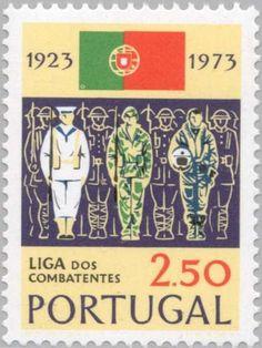 Sello: Soldiers & Country Flag (Portugal) (Servicemen's League) Mi:PT 1224,Afi:PT 1202