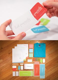 Sweet business cards which are tactile and kinetic with a fresh theme.