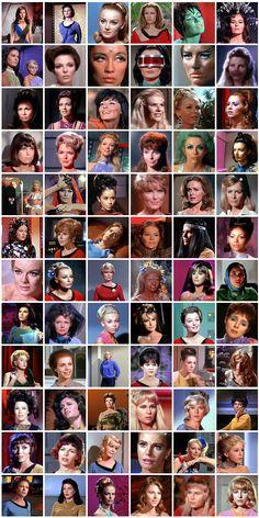 Star Trek Women.  Puedo recordar cada episodio en los que estuvieron todas.