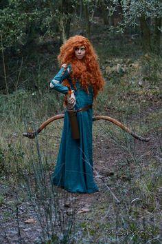 La cosplayeuse Domino en Merida (Rebelle Disney)  Découvrez sa page => https://m.facebook.com/DominoCosplay  Photographe : M.S. photos