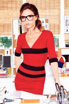 Victoria Beckham designt auch Brillen (370 - 430 €)