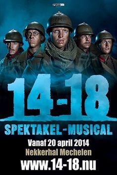 "Musical 14 - 18 - Sherpa.be Tickets   ""We maken met de spektakel musical '14-'18 een puur verhaal over vriendschap en liefde.""  Met Jelle Cleymans, Louis Talpe, Jonas Van Geel, Bert Verbeke, Lander Depoortere, Free Souffriau, Maaike Cafmeyer, Jo De Meyere, Peter Van de Velde http://www.sherpa.be/nlBE/Familie/Theater/Musical-14---18/"