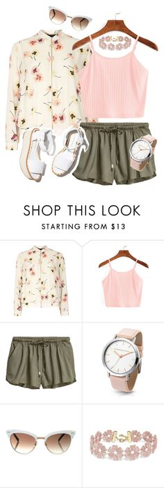 """""""Pink+White Floral"""" by hannahgrinton on Polyvore featuring Dorothy Perkins, Paloma Barceló, Gucci and BaubleBar"""