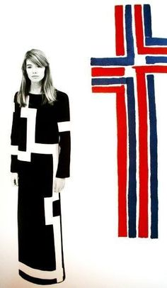 Françoise Hardy, 1968 design inspiration (painting by Sonia Delaunay)