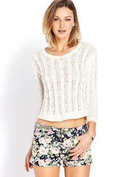 Relaxed Open-Knit Sweater | FOREVER21 - 2000106639