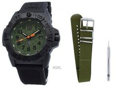 Features:  Carbon Compound Case Rubber/Silicone Strap Quartz Movement Mineral Crystal Green Dial Analog Display Luminous Hands And Markers Date Display Uni-Directional Rotating Bezel Double Security Gasket Crown Screwed Case Back Buckle Clasp 200M Water Resistance  Approximate Case Diameter: 44mm Approximate Case Thickness: 14mm White Watches For Men, 200m, Navy Seals, Crystal Green, Quartz, Crystals, Uni, Mineral, Markers