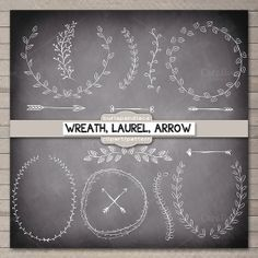 Check out Chalkboard,rustic wreath laurel by burlapandlace on Creative Market