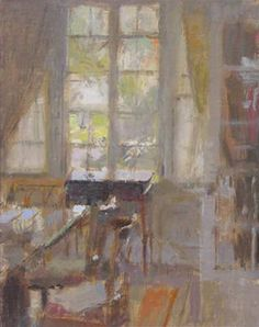 Neil Riley Bexley  Interior 2009, oil on Panel, 10 x 8 inches
