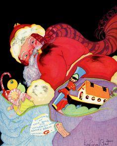 Story Book Sundays - Santa Illustrated by Fern Bisel Peat