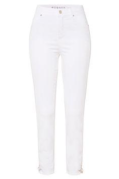 Rosner Damen High Waist Jeans Audrey2 Weiss | SAILERstyle Trends, Elegant, High Waist Jeans, Skinny Jeans, Pants, Fashion, High Waist, Cloakroom Basin, Reach In Closet