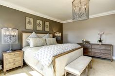 The Best Master Bedroom Paint Colors! Master Bedroom Design, Home Decor Bedroom, Bedroom Furniture, Bedroom Ideas, Master Bedrooms, Bedroom Ceiling, Modern Bedroom, Bed Lights, Transitional Living Rooms