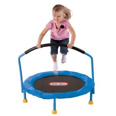 Little Tikes 3 - Foot Trampoline. Little Tikes knows it is important for kids to stay active, and the trampoline is easy to move so kids can bounce where ever they like any time they like! I've be wanting this for him! Little Tikes Trampoline, Toddler Trampoline, Small Trampoline, Trampoline Reviews, Backyard Trampoline, Trampolines, Trampoline With Handle, Little Tykes, Shopping