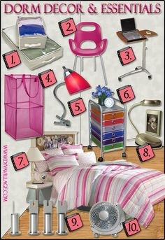 Dorm Room Ideas - Decor & Essentials