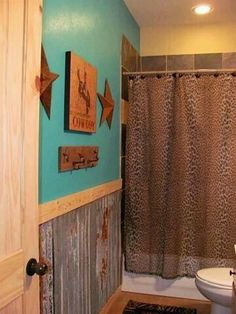 Western Home Decor 30 Inspiring Bathroom Decor Ideas With Turquoise Color To Consider.Western Home Decor 30 Inspiring Bathroom Decor Ideas With Turquoise Color To Consider Western Style, Turquoise Room, Turquoise Bathroom Decor, Bathroom Colors, Rustic Bathrooms, Western Bathrooms, Western Bathroom Decor, Cowboy Bathroom, Vintage Western Decor