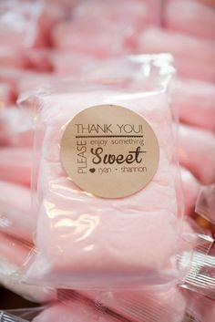 Pink Cotton Candy Favors - Blair