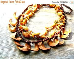 Clearance Sale Bohemian Necklace - Earthy Necklaces - Boho Necklace Lot - Tribal Necklace - Wood Bear Claw Necklace by BohemianGypsyCaravan