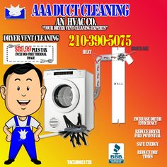 Clean Dryer Vent, Thermal Heat, Vent Cleaning, Save Energy, San Antonio
