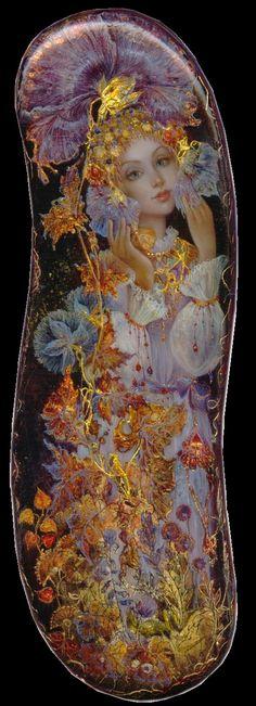 Flowers. Lacquer miniature artist Yulia Danilina